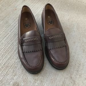 Ariat Brown Leather Loafers
